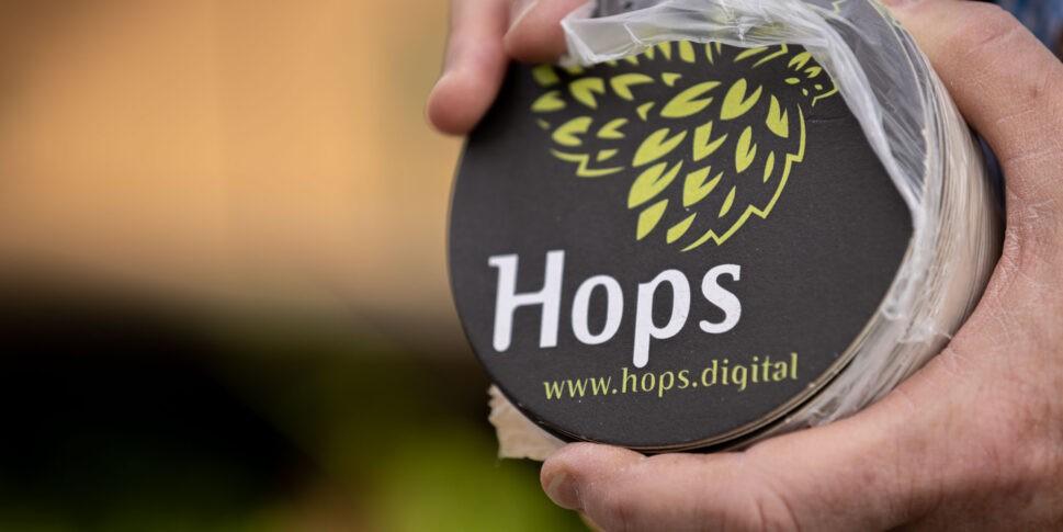 HOPS Pappuntersetzer Gastronomie