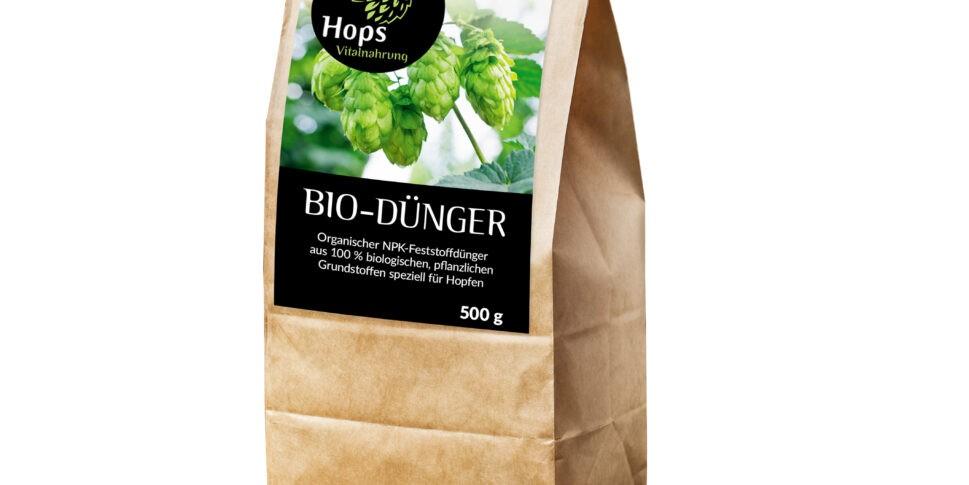 Packshot HOPS Biodünger Vitalnahrung